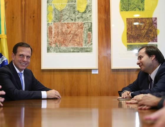 João Doria e Rodrigo Maia (Foto: Fabio Rodrigues Pozzebom/Agência Brasil)
