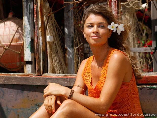 Felicidade plena! Grazi quer dar dois irmãozinhos à Sofia (Foto: Flor do Caribe / TV Globo)