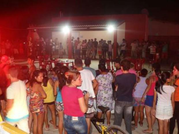 Assassinato de ex-PM no RN chamou atenção de moradores (Foto: Marcelino Neto/G1)