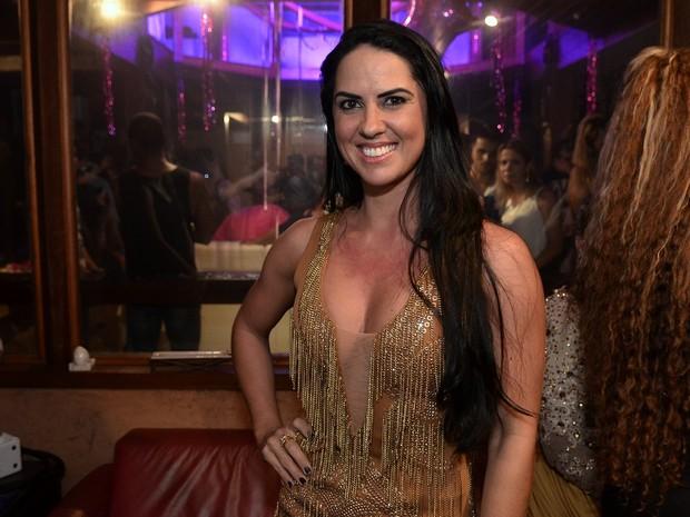 Graciele Lacerda em evento na Zona Sul do Rio (Foto: Roberto Teixeira/ EGO)
