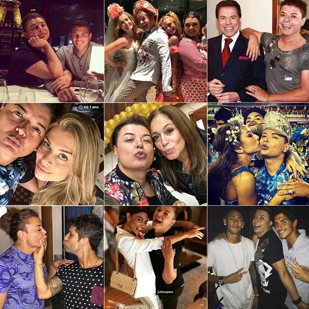 David Brazil e famosos (Foto: Instagram / Reprodução)