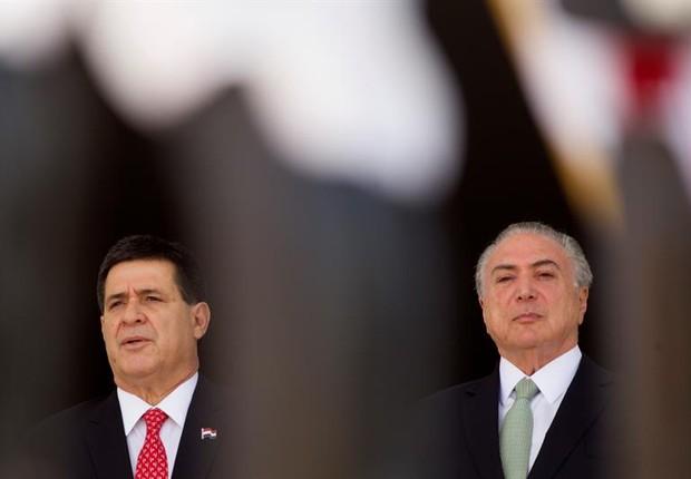 Em evento,Temer chama Paraguai de Portugal