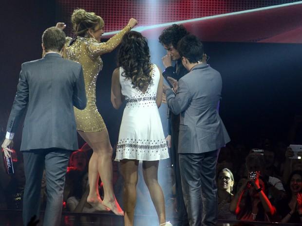 Claudia Leitte vibra com a vitória de Sam Alves no 'The Voice Brasil' (Foto: Roberto Teixeira/ EGO)