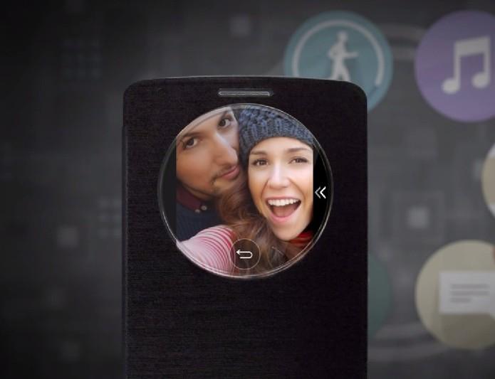 Quick Circle facilita acesso a funções do LG G3 (Foto: Reprodução)