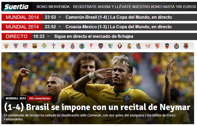 Recital Neymar (Foto: Reprodução Mundo Deportivo)