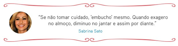 Cardápio das famosas - Sabrina Sato (Foto: EGO)