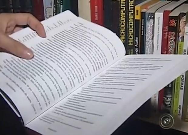 Livros doados pela comunidade ajudam pacientes em recuperação (Foto: Reprodução / TV TEM)