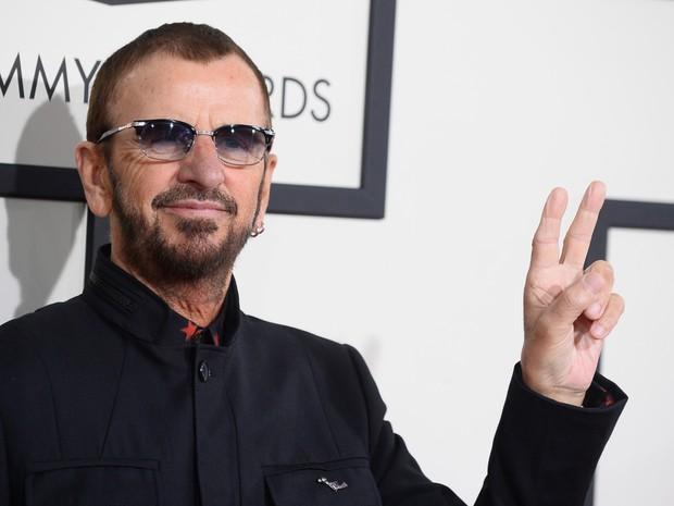 Ringo Starr chega ao 56º Grammy Awards neste domingo (Foto: Jordan Strauss/Invision/AP)