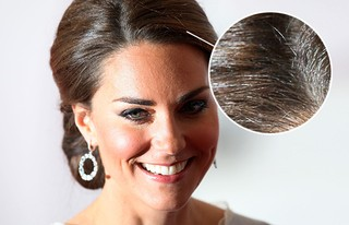Duquesa Kate Middleton mostra fios brancos (Foto: Agência Getty Images)