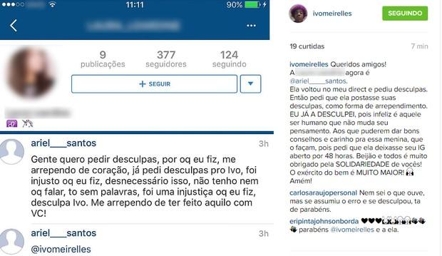 Pedido de desculpas para Ivo Meirelles (Foto: Instagram / Reprodução)