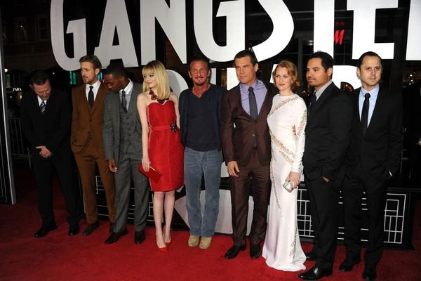 Parte do elenco de Caça aos Gângsteres (2013) (Foto: Getty Images)