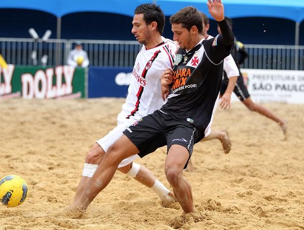 Vasco e MIlan Mundialito de Clubes futebol de areia São Paulo (Foto: Gaspar Nóbrega/Inovafoto)