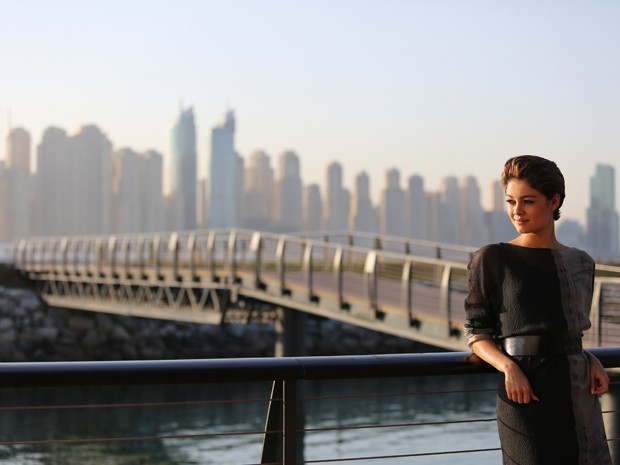 Sophie Charlotte grava cenas de Babilônia em Dubai (Foto: Alex Carvalho / TV Globo)