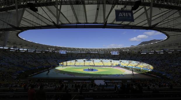 Visão geral do Maracanã durante o encerramento da Copa (Foto: Hassan Ammar/AP Photo)
