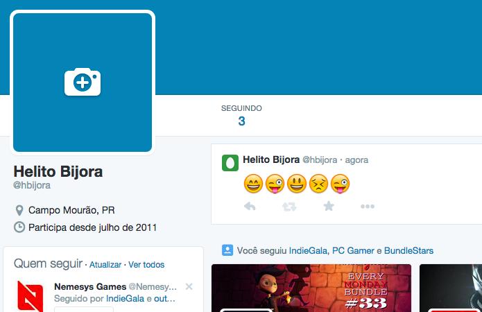 Tweet emoticons pelo Chrome (Foto: Reprodução/Helito Bijora)