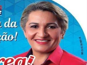Imagem utilizada na campanha da vereadora eleita  (Foto: Divulgação/Campanha Eleitoral)