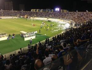 Confiança x América-RN, na Arena Batistão (Foto: Felipe Martins/GloboEsporte.com)