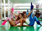 'Delegata', Maíra Charken abre álbum de balé fitness com Sheron Menezzes