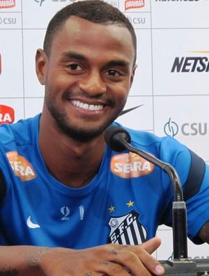 Renê Júnior coletiva Santos (Foto: Marcelo Hazan)