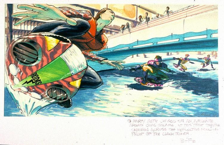 Primeiro conceito de Hoverboard (Foto: John Bell)