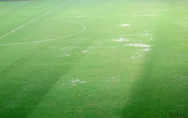 estádio Raulino de Oliveira gramado chuva (Foto: Thales Soares )