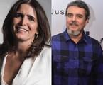 Malu Mader e Cássio Gabus Mendes   TV Globo