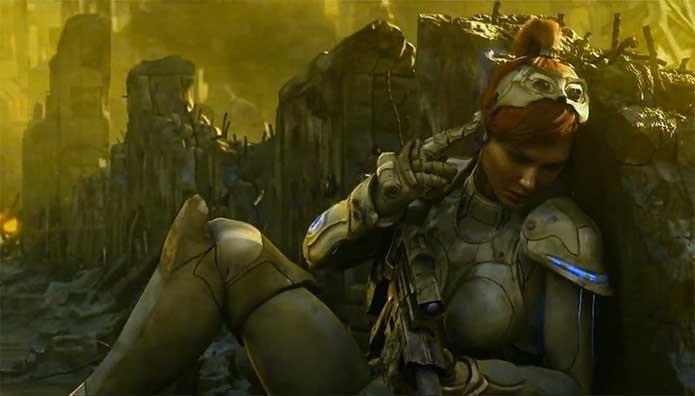 Kerrigan é deixada para morrer em StarCraft (Foto: Divulgação/Blizzard)
