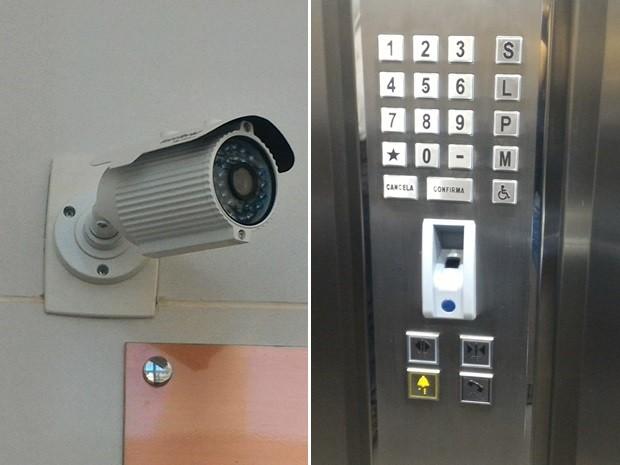 Investimento em segurança nas áreas comuns e elevadores Goiânia Goiás (Foto: Vanessa Martins/G1)