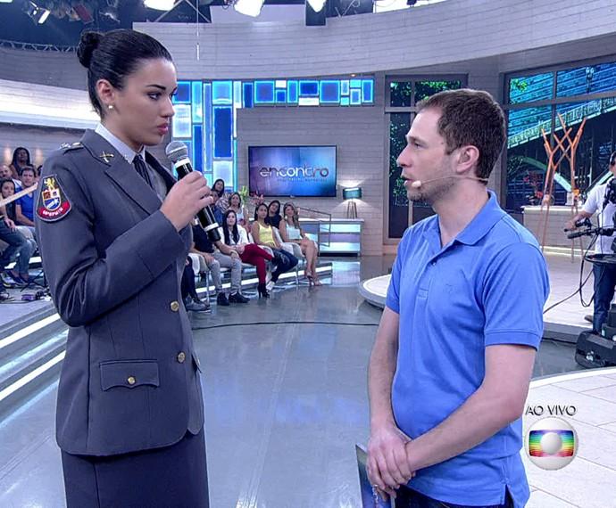 Helena Moraes abriu mão da carreira de modelo (Foto: TV Globo)