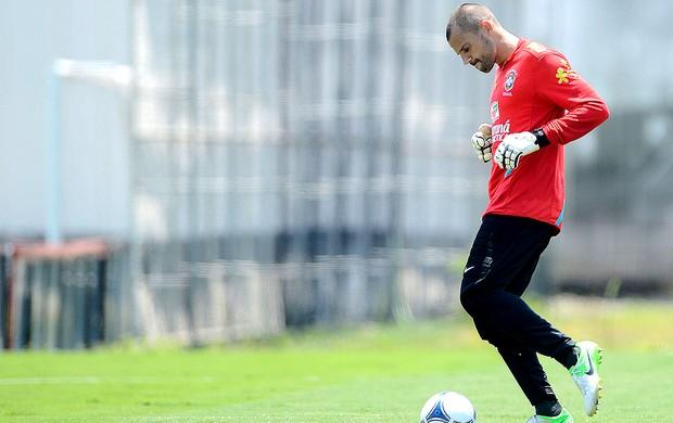 Diego Cavalieri no treino da Seleção (Foto: Mauro Horita / Ag. Estado)