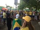 Manifestantes pedem impeachment da presidente Dilma em Porto Velho