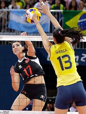Sheilla, Brasil x Turquia, Vôlei, Olimpiadas (Foto: Agência AP)