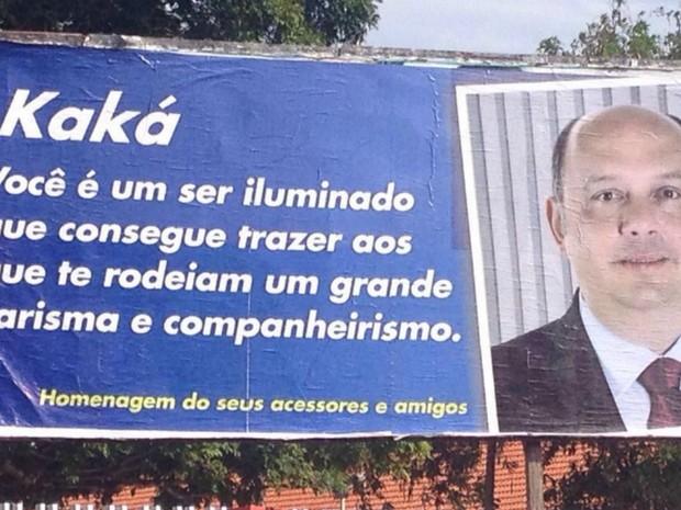 Erro foi registrado por internauta, em Macapá (Foto: Daniel Guedes Silveira/VC no G1)