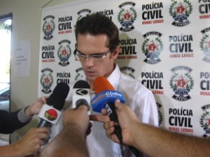 Delegado Cirano de Almeida sobre o roubo a joalheria em Uberl&#226;ndia (Foto: Divulga&#231;&#227;o/Pol&#237;cia Civil)
