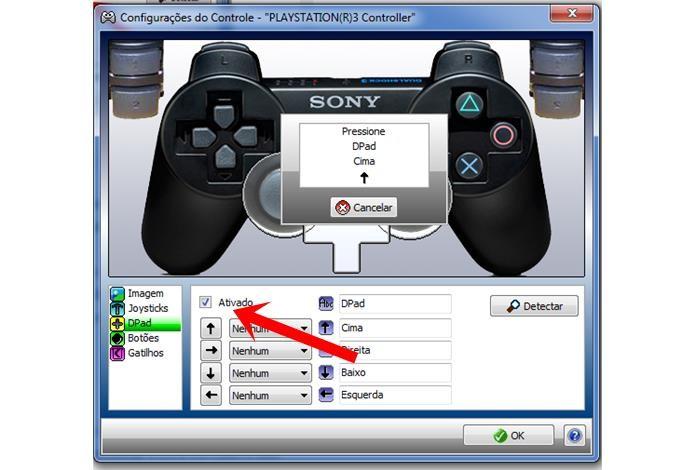 O Xpadder permite fazer o processo de forma automática também com o direcional digital (Foto: Reprodução / Dario Coutinho)