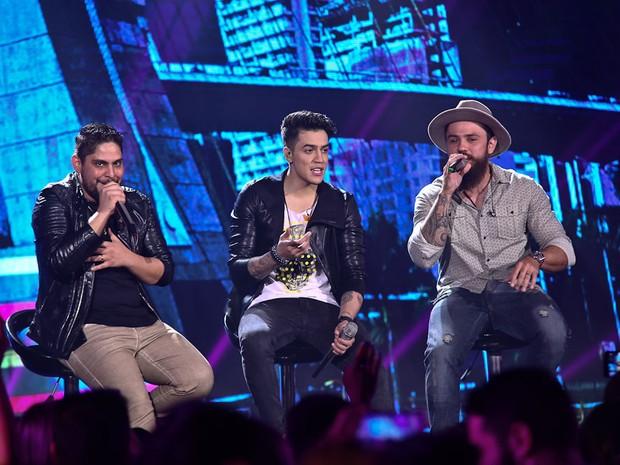 Jefferson Morais canta com Jorge e Mateus em show em São Paulo (Foto: Cláudio Augusto/ Brazil News)