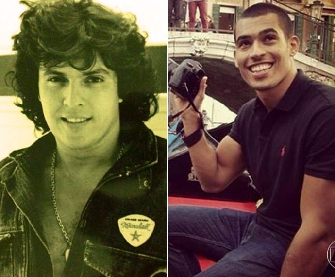 Sidney Magal e o filho Rodrigo West (Foto: TV Globo)
