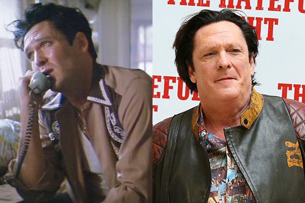 Michael Madsen em 1991 e atualmente (Foto: Divulgação)