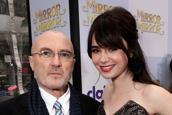 Lily e Phil Collins (Foto: Getty Images)