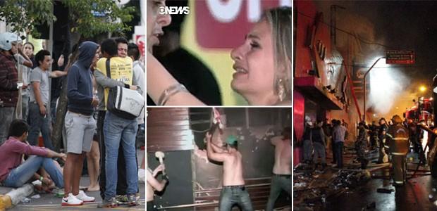 Fogo mata 180 em boate no RS, diz polícia (Germano Roratto/Agência RBS e GloboNews)