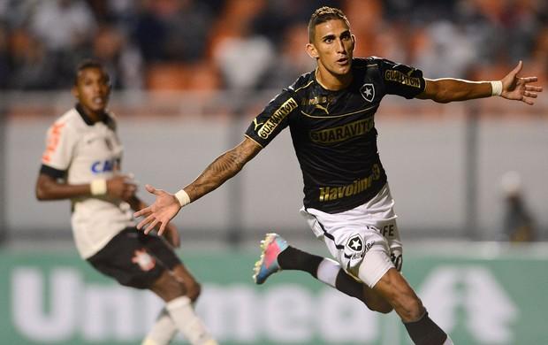 Rafael Marques gol Botafogo x Corinthians (Foto: Mauro Horita / Ag. Estado)