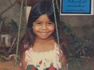 Leide das Neves, 6 anos, foi a primeira vítima do césio-137 (Foto: Reprodução / TV Anhanguera)