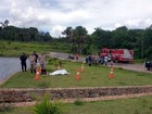 Bombeiros acham corpo de homem que sumiu após entrar em lago de GO