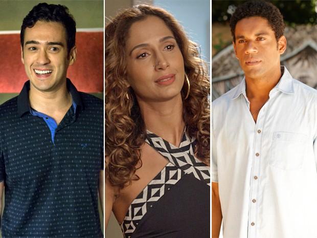 Norberto, Regina e Tadeu se unem para lançar restaurante (Foto: TV Globo)