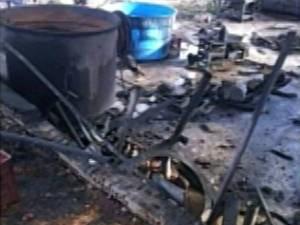 Fábrica de sabão funcionava na casa da família, segundo a polícia. (Foto: Reprodução/TV Liberal)