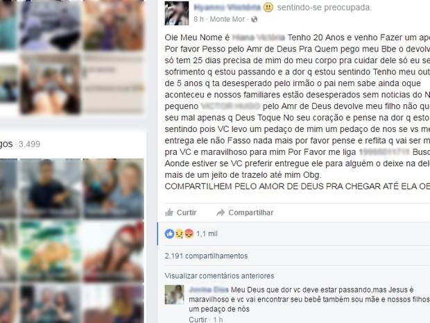 Falso sequestro mobiliza as rede sociais (Foto: Reprodução/ EPTV)