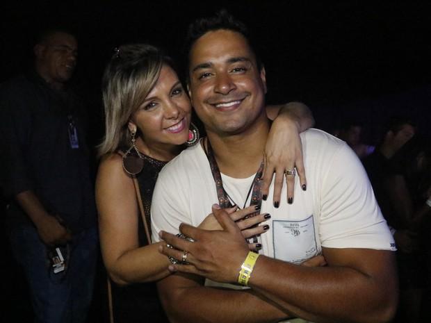 Carla Perez e Xanddy em show em Salvador, na Bahia (Foto: Fred Pontes/ Divulgação)
