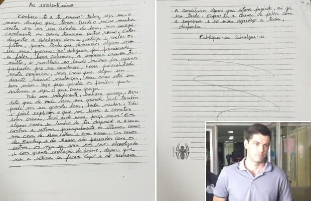 Suposto serial killer escreve carta a juiz e diz que quer 'esclarecer os fatos', em Goiânia, Goiás (Foto: Vitor Santana/G1)