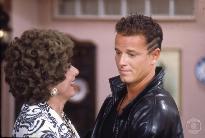 A dupla em 'Deus nos Acuda', novela de Silvio de Abreu, em 1992 (Foto: Cedoc / TV Globo)