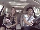 Rafa Brites pega 'Carona Cantada' e descobre gosto musical de Di Ferrero